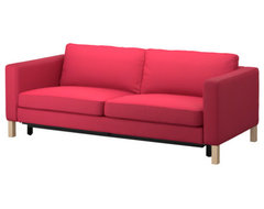 KARLSTAD Sofa Bed, Sivik Pink-Red modern-sofa-beds