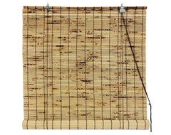 Bamboo Roll Up Blinds - (48 in. x 72 in.) traditional-roller-blinds