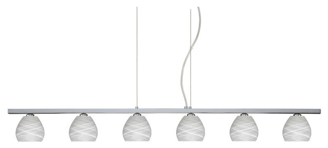 Besa 6LP-560560 Cocoon Tay Tay Pendant - 46.125W in. - 6LP-560560-BR contemporary-lighting
