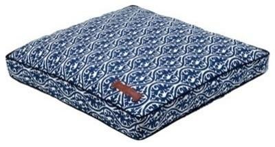Jax & Bones Everyday Cotton Pillow Bed, Waverlee Blue, Small modern-pet-supplies