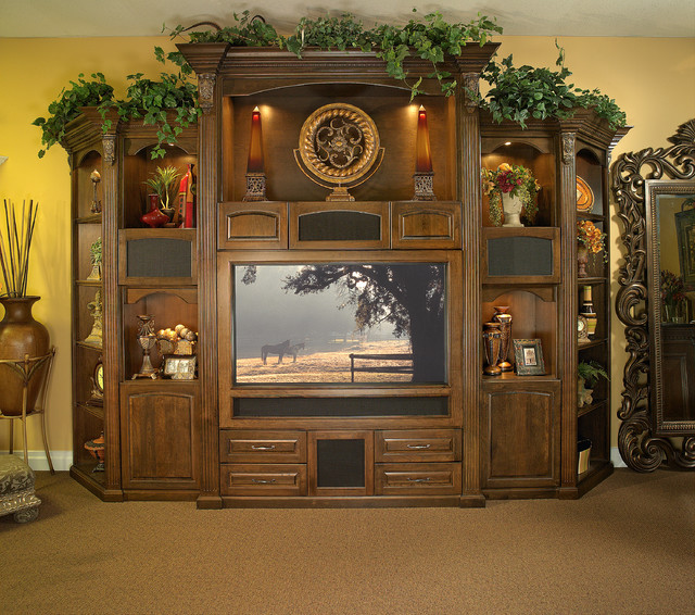 Custom Made Wall Unit for Large Screen Plasma TV - Traditional ...