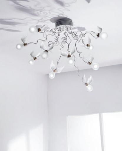 Ingo Maurer Birdies nest ceiling light modern-lighting