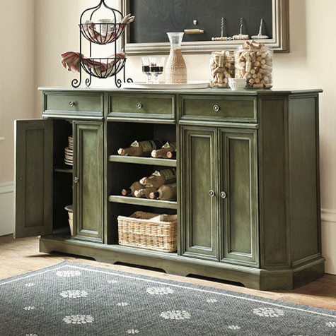 Grandezza Console, Warm Green traditional buffets and sideboards