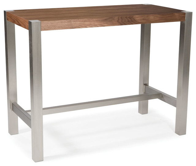 Counter Height Rectangular Table : Moes Home Riva Rectangular Counter Height Table in Walnut ...