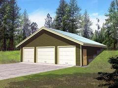 Garage Plan 86886 at FamilyHomePlans.com