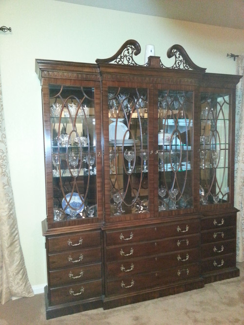 Old fashioned China Cabinet needs help to update