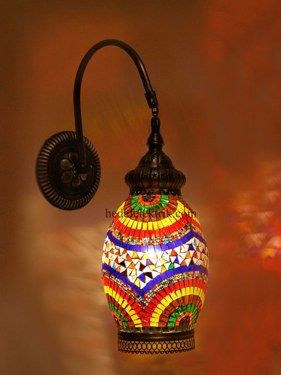 Colorful Turkish Style Mosaic Lighting Wall Sconce - Code: HD-20003_08