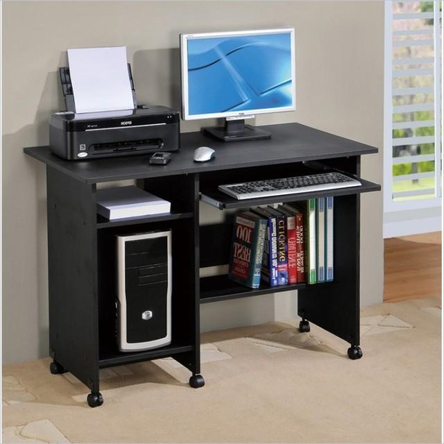 Poundex Computer Desk In Black Contemporary Desks And