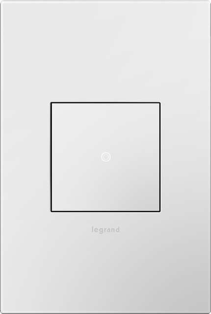 Legrand Adorne 1-Gang Gloss White Square Plastic Wall Plate - Modern - Switch Plates And Outlet ...