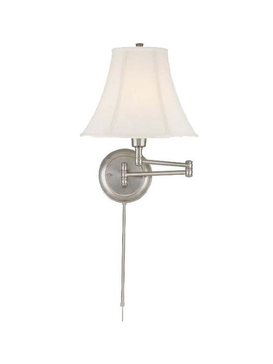 Joshua Marshal - Antique Brass Swing Arm Wall Sconce From The Charleston Collection - Finish: Polished Steel
