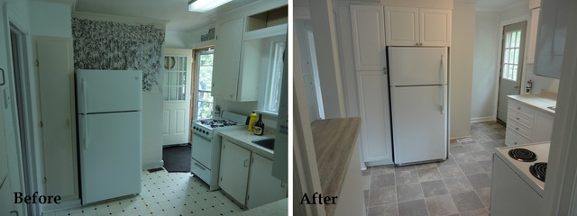 Newcastle Rental - Kitchen - Before & After