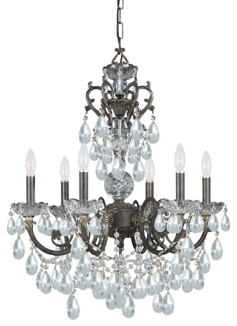 Ornate Chandelier Accented with Italian Crystal modern-chandeliers