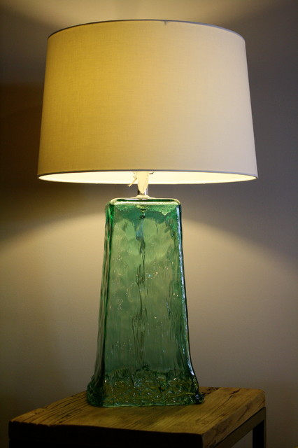 recycled glass lamp. Black Bedroom Furniture Sets. Home Design Ideas