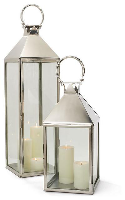 Galveston Stainless Steel Outdoor Candle Lantern Lamp 29