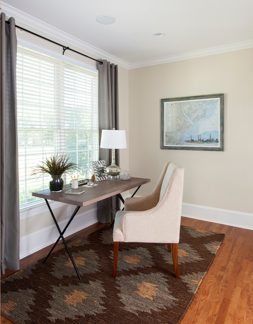 Coastal house beach style home office charlotte by for Coastal home office