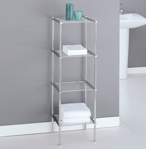 Merveilleux Original Metal Spacesaver Bath Storage Rack 3 Shelf Satin Nickel Walmart