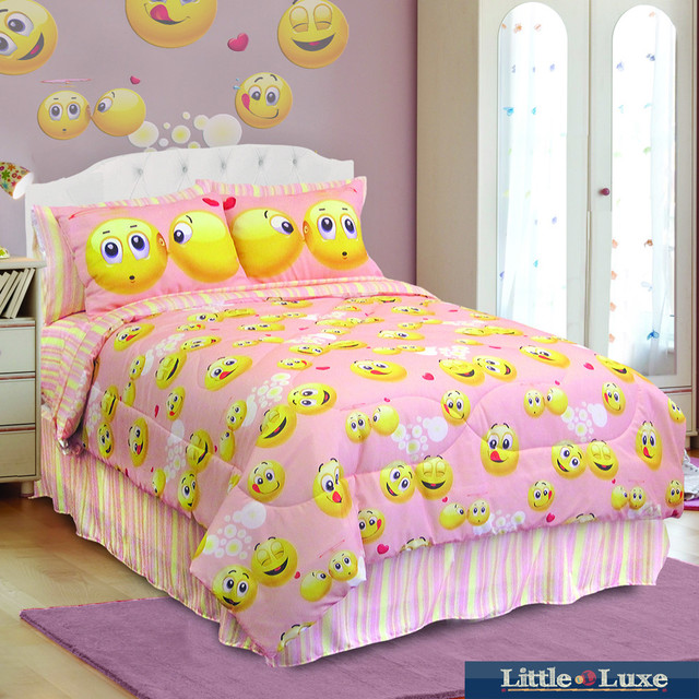 Veratex Emoji 4 piece Comforter Set Contemporary