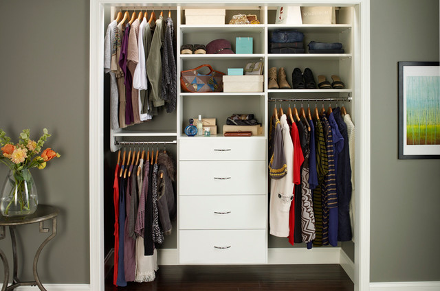 Reach in closet organizers white - Closet storage ideas small spaces model ...