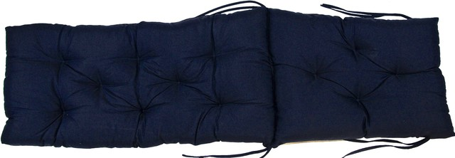 Navy blue diamond tufted chaise lounge cushion for Blue and white striped chaise lounge cushions