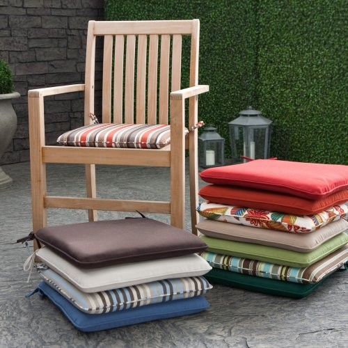 Coral Coast Outdoor Furniture Seat Pad Brick Red contemporary-outdoor-pillows
