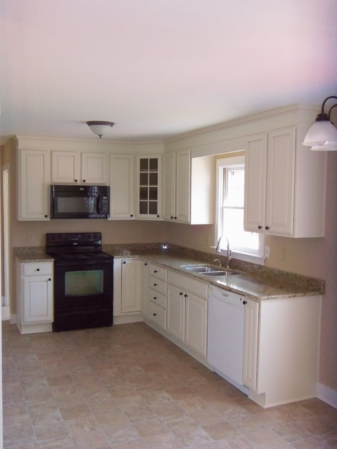 Standard Bathroom Vanity Cabinet Height shaped kitchen remodel - Traditional - richmond - by The Remodeling ...