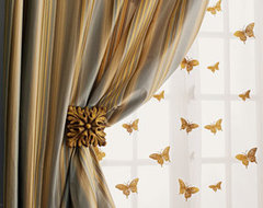 "Each 84""L Milano Striped Curtain traditional-curtains"