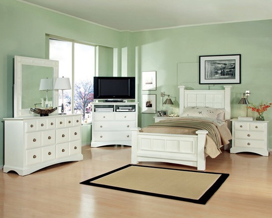 Kids Furniture - The Palazzo boasts two distinctive beds that will appeal to all who are in search of casual contemporary style possessing a sense of flair as well as function. Bold lines provide dimension while details like chrome hardware pulls that sparkle against the deep white tones.