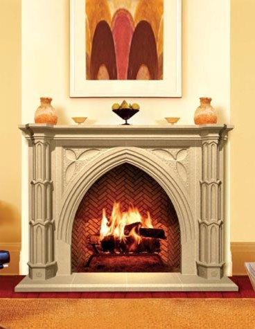 Cast Stone Fireplaces midcentury