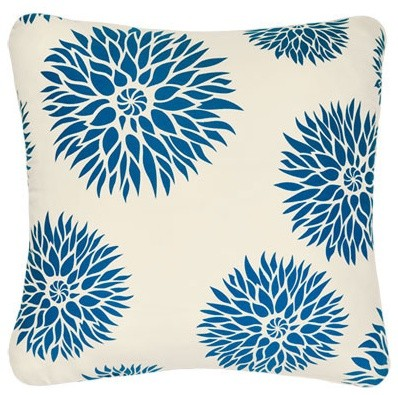Dahlia Organic Cotton Eco Art Throw Pillow contemporary pillows