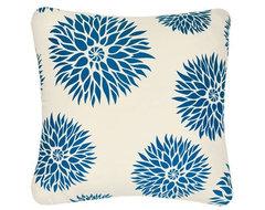 Dahlia Organic Cotton Eco Art Throw Pillow contemporary-pillows