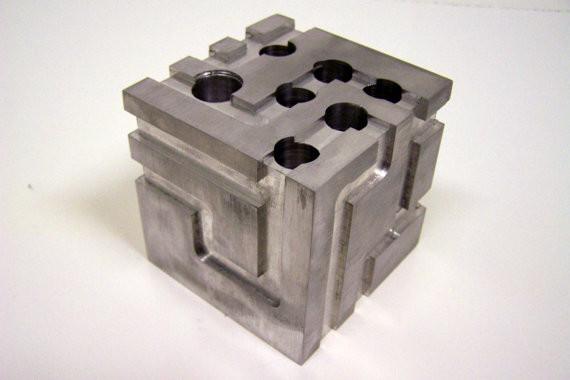 Desk Organizer, Milled Aluminum Block by Eyeball 76 modern-storage-and-organization