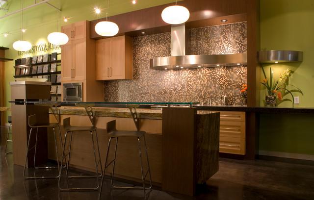 Ecologic-Studio Showroom contemporary-kitchen