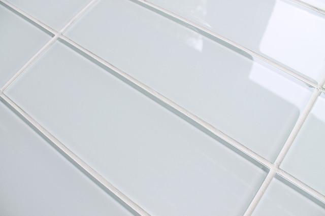 3 Quot X 6 Quot Sample Snow White 4 Quot X 12 Quot Glass Subway Tiles