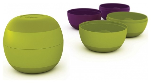 Prep & Store, Green/Aubergine modern-food-containers-and-storage