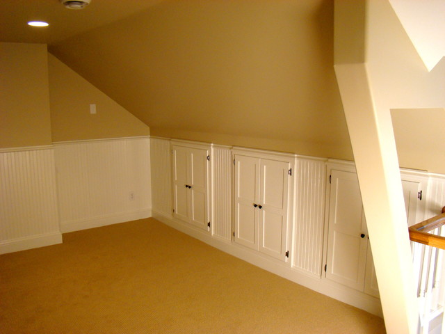 Attic Remodel With Family Room Traditional