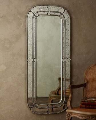 Etched Floral Mirror traditional-mirrors