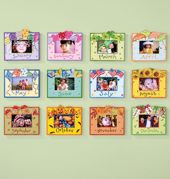 Whimsical Month Frame traditional-frames