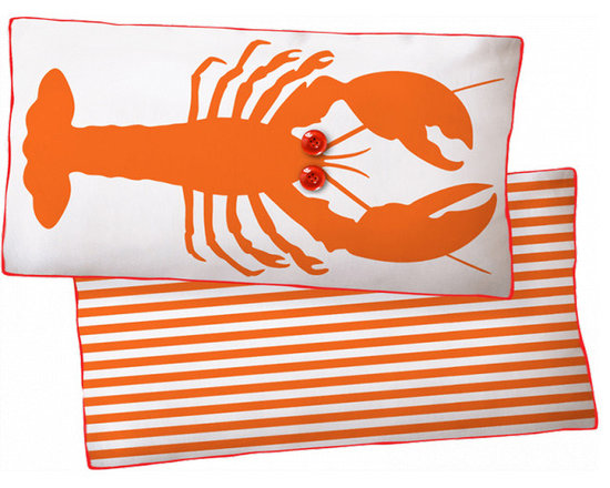 Naked Decor Orange Lobster Reversible Pillow