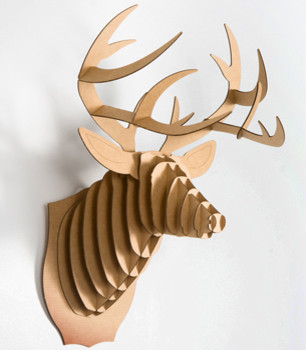 Cardboard Buck Jr. Trophy eclectic accessories and decor