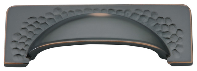 Craftsman Oil-Rubbed Bronze Cabinet Cup Pull - Traditional - Cabinet And Drawer Handle Pulls ...