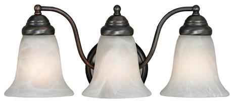 Golden Lighting Centennial 3-Light Vanity - Bronze bathroom-vanity-lighting