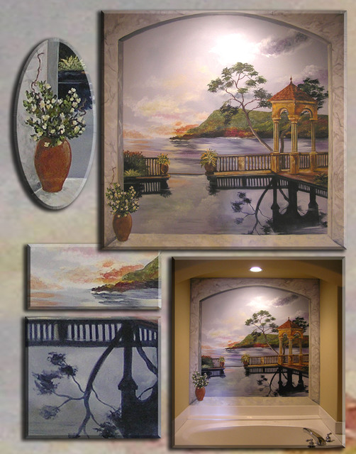 Classic Murals I've done traditional-bathroom