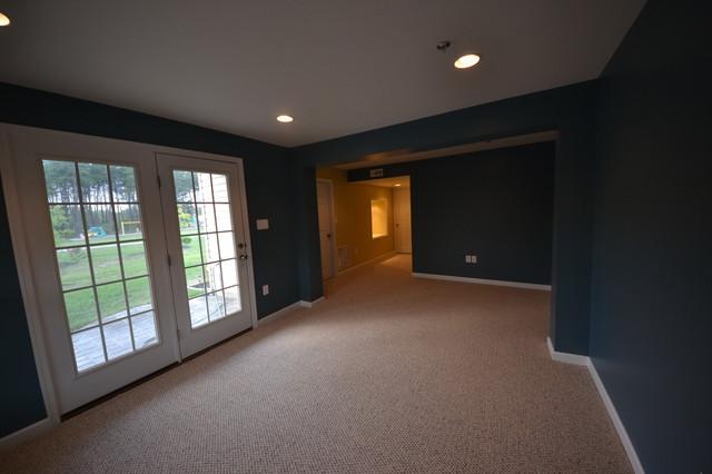 Finished Basement, Glen Burnie, MD traditional-basement