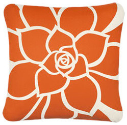 Rosette EcoArt Organic Pillow contemporary pillows