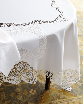 "SFERRA ""Lisette"" Table Linens - traditional - tablecloths - by Horchow"