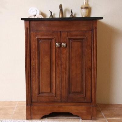 Legion Furniture Norfolk 25-in. Single Bathroom Vanity - Light Walnut modern-bathroom-vanities-and-sink-consoles