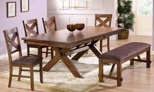 Nashville 6 Piece Dining Set transitional-dining-tables
