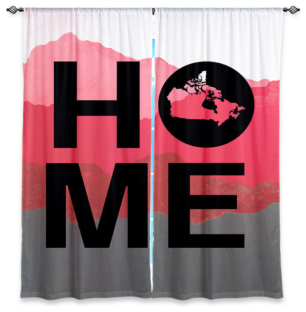 Window Curtains Lined by Jackie Phillips Home Canada Magenta contemporary-curtains