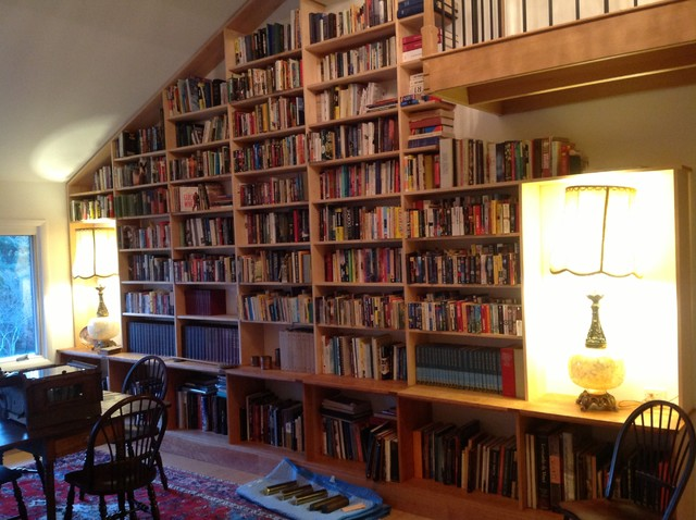Library traditional-living-room