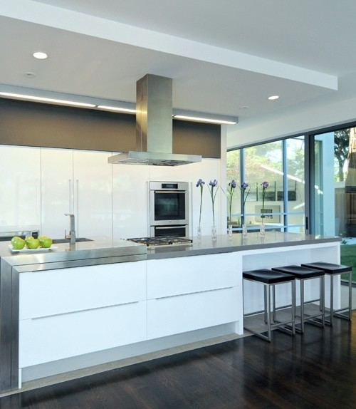 Modern Kitchen Exhaust Hoods classic vintage modern kitchen blue gray cabinets inset shaker
